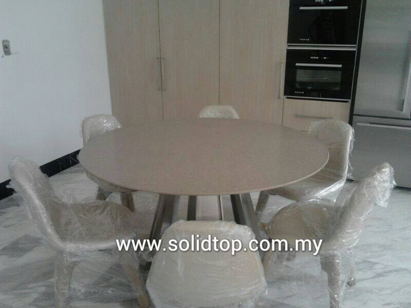 Dinning Round Table Top by Quartz Jess Stone Malaysia  : Dinning Round Table Top by Quartz Jess Stone from solidtop.com.my size 800 x 600 jpeg 40kB